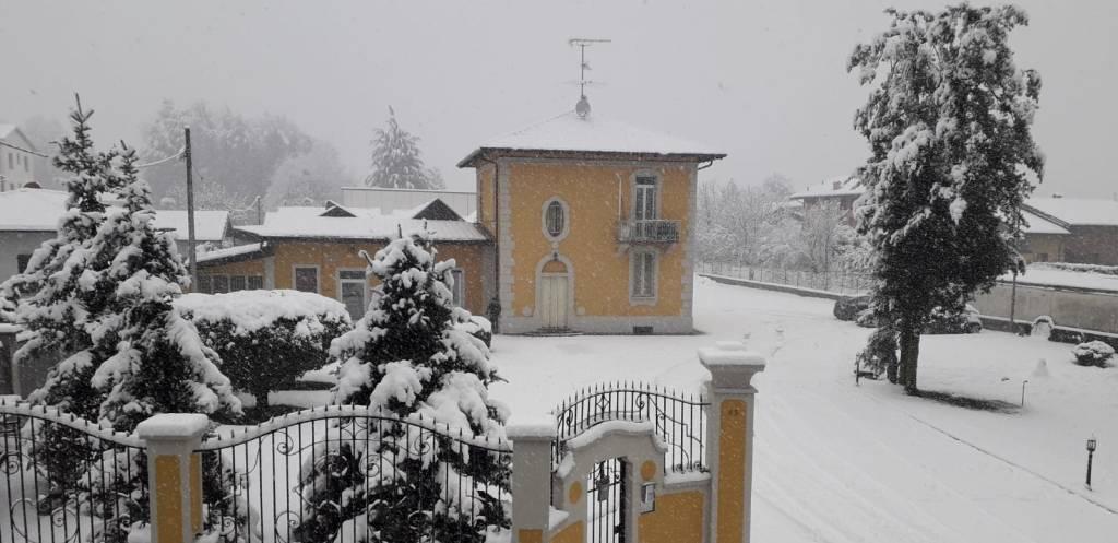 La nevicata a Golasecca
