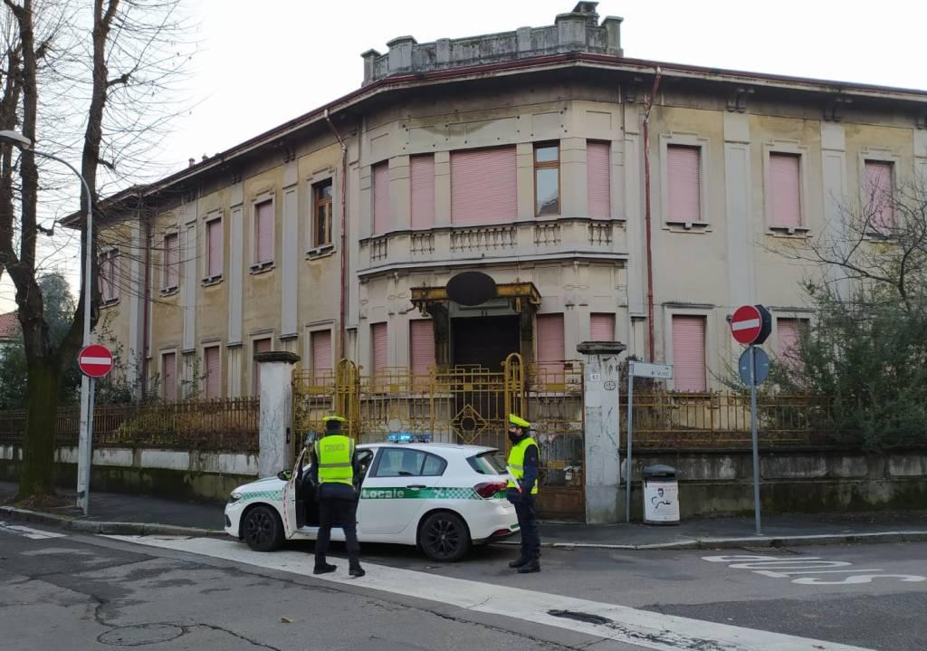 Sgombero ex Liceo Verri di Legnano 2020