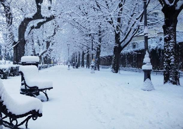 Via Dandolo sotto la neve