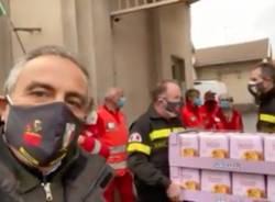 vigili del fuoco croce rossa busto