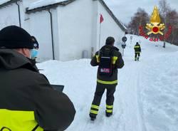 vigili del fuoco neve maccagno addestramento elicottero
