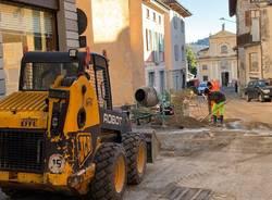 Bisuschio - I lavori nel centro storico - Gennaio 2021