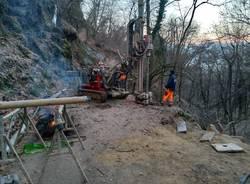 Cremenaga, il cantiere sulla strada del Biviglione