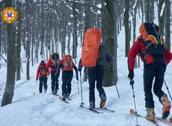 Esercitazione Cnsas sulla neve