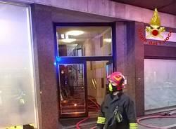 Incendio nel centro di Varese
