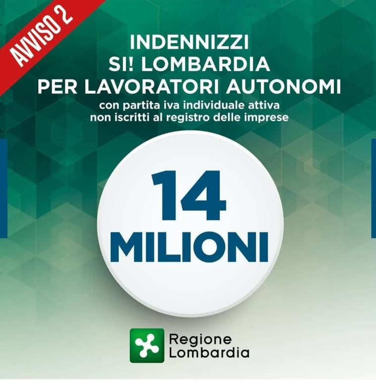 Indennizzi Regione Lombardia gennaio 2021