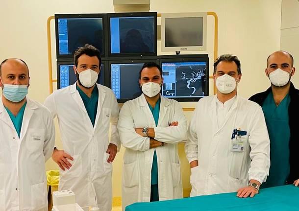 ospedale dei Varese - neuroradiologia . dottor Baruzzi e dottor Giorgianni