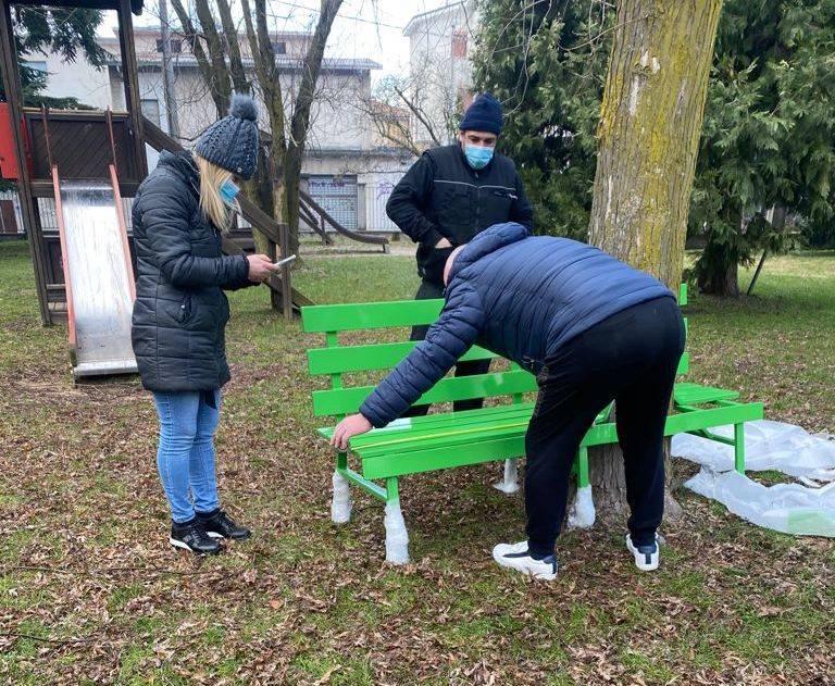 Panchina Verde Samarate Montevecchio