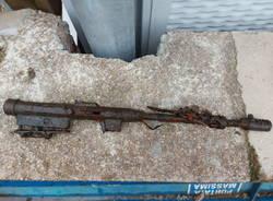 arma trovata nel cantiere legnano
