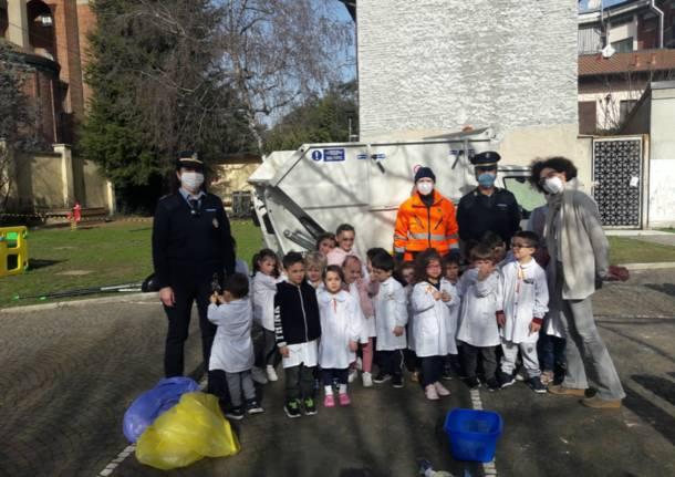 Canegrate, giornata di pulizia alla scuola Gajo