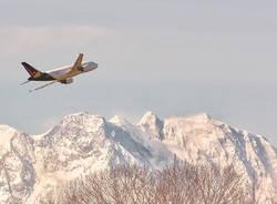 Foto del giorno 2 febbraio 2021 cardano al campo aereo malpensa