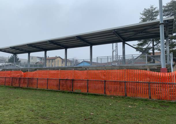 Il cantiere del rugby a Giubiano