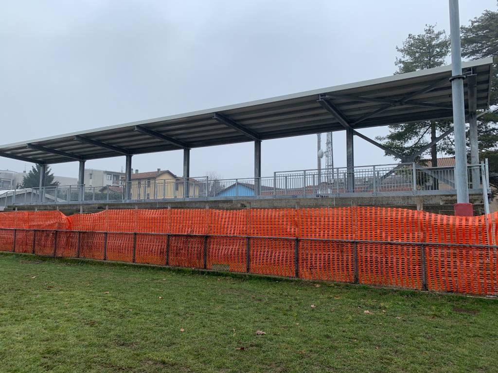 Il cantiere del rugby a Giubiano