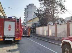 Incendio a Castellanza 2 febbraio