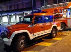 incendio a Parabiago 17 febbraio
