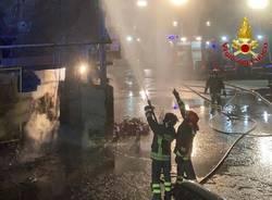 Incendio in una fabbrica di vetro a a Gerenzano