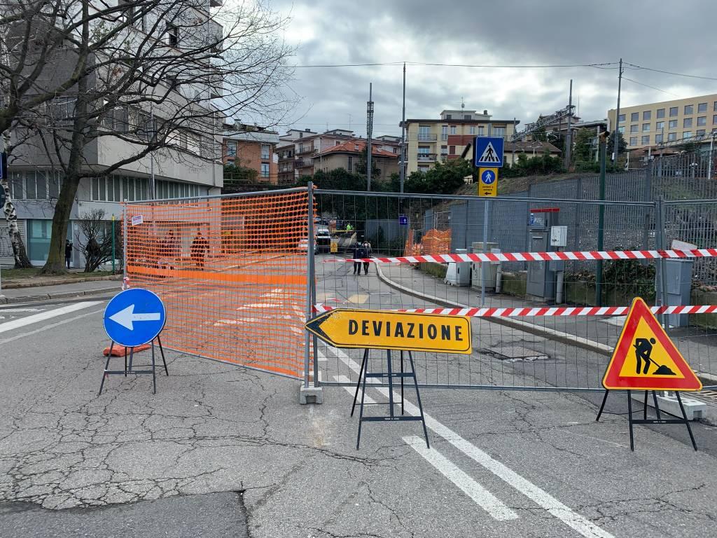 Lavori in via del Ponte, chiuso un tratto di via Maspero
