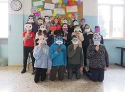 Mascherine di carnevale alle scuole Melzi di Legnano