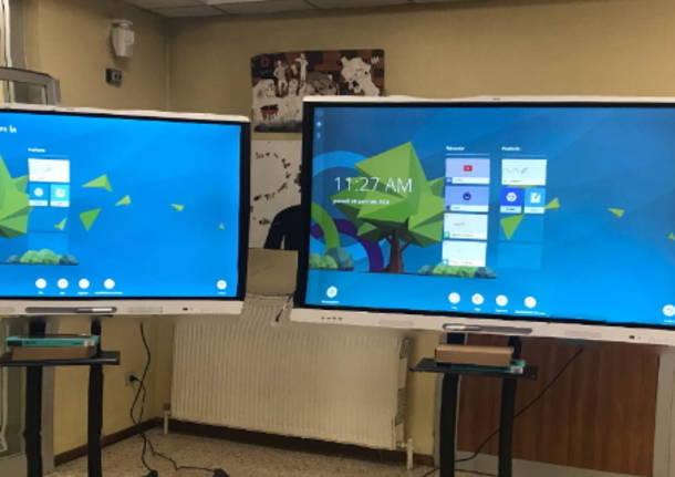 monitor mobili e interattivi scuole villa cortese 6 febbraio 2021