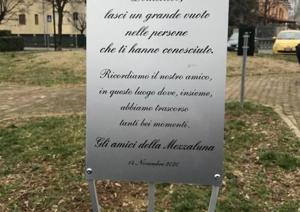 Origgio, una targa in memoria di Domenico Ambrosini