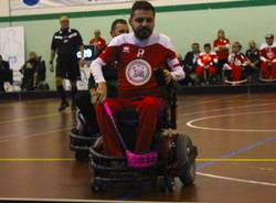 powerchair hockey - Tiziano fattore capitano Powerchair Hockey di Besnate.
