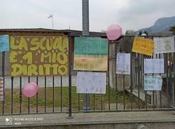 La protesta contro la Dad alle scuole di Mesenzana