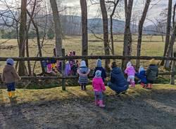 Educazione in natura all'asilo Ugo Bassi di Inarzo