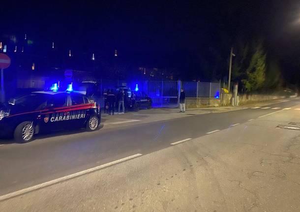 incidente carabinieri notte