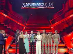 I cantanti sul podio di Sanremo 2021