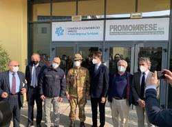 inaugurazione centro vaccinale vaccino covid malpensafiere