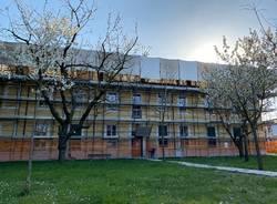 Lavori a villa Brentano a Busto Garolfo