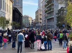 manifestazione scuola in presenza busto arsizio