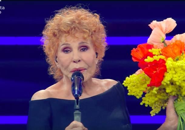 Ornella Vanoni e Francesco Gabbani al festival di Sanremo