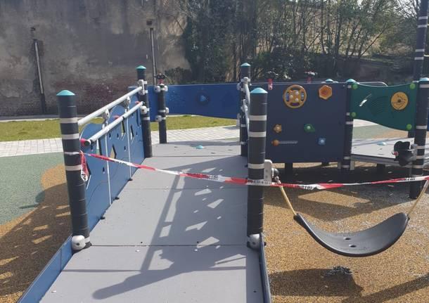 parco giochi chiuso coronavirus covid