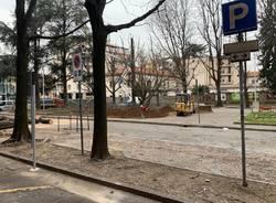 Partono gli abbattimenti in piazza stazione a Gallarate