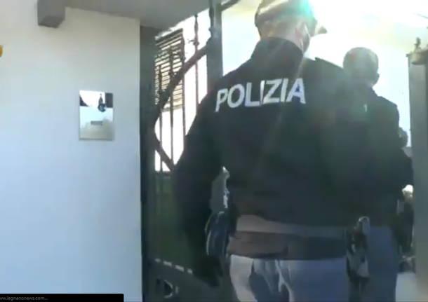polizia di stato sequestro antimafia a Lainate