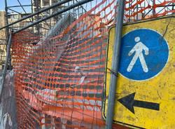 Si avviano a conclusione i lavori di riqualificazione del ponte pedonale tra via Magenta e via Bixio a Varese
