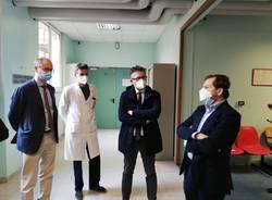 Visita di Emanuele Monti all'ospedale di Tradate