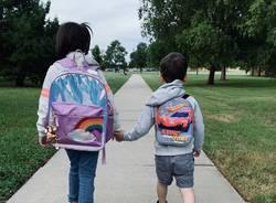 a scuola a piedi