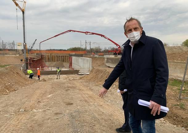 cantiere sottopasso sant'anna busto arsizio aprile 2021