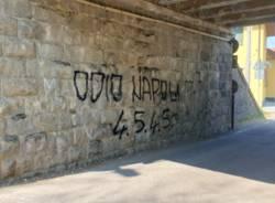 Scritta razzista presente nel territorio comunale