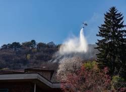 Cuasso al Monte - Incendio boschivo Pasqua 2021