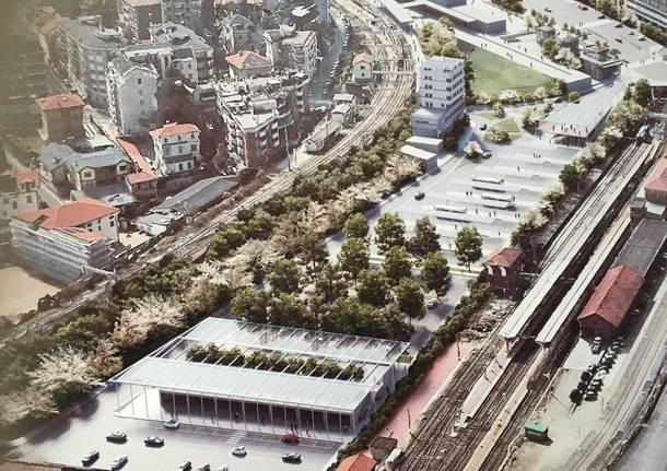 Il piazzale Kennedy nei rendering del piano stazioni