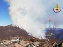 Incendio in Val Cannobina - Vigili del Fuoco