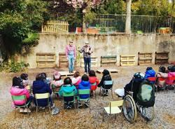 Intrecci Teatrali nel cortile della scuola dell'infanzia Malnati
