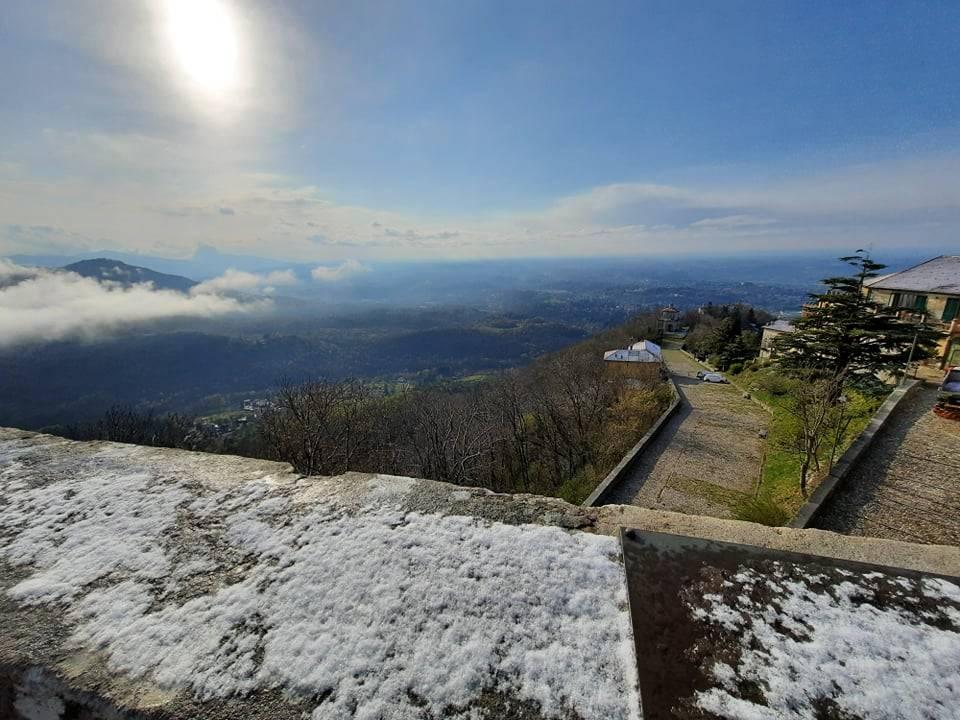 La neve al Campo dei Fiori - 15 aprile 2021