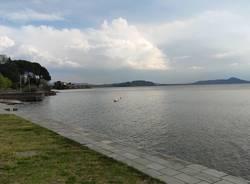 Lungo lago di Arolo- muretto