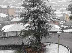 Neve di aprile 2021 (oggi nel Varesotto)