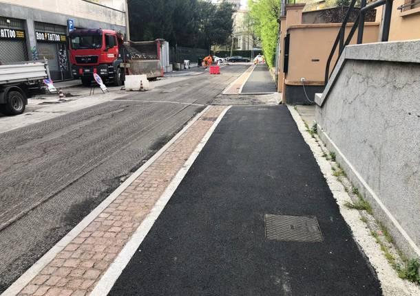 Nuovi marciapiedi a Biumo
