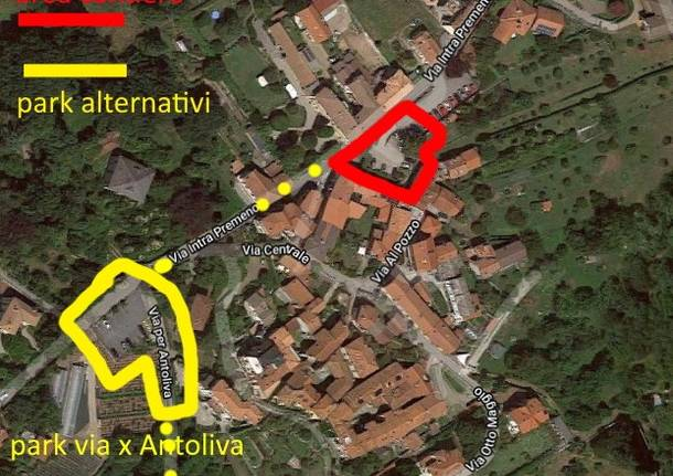 parcheggi frazione Antoliva Verbania